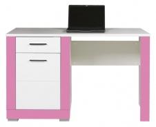 Dětský psací stůl Twin - bílá/růžová