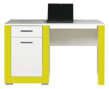Dětský psací stůl Twin - bílá/zelená