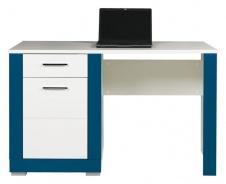 Dětský psací stůl Twin - bílá/modrá