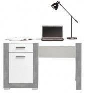 Dětský psací stůl Twin - bílá/šedá