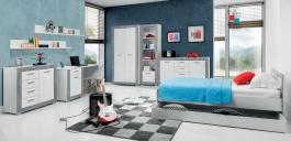 Dětský pokoj pro kluky Twin II - bílá/šedá