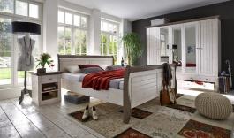 Ložnice Monako - bílá/hnědá