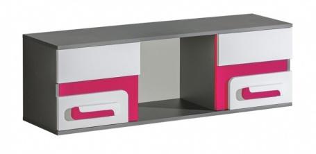 Závěsná skříňka APETTITA 10 antracit/růžová