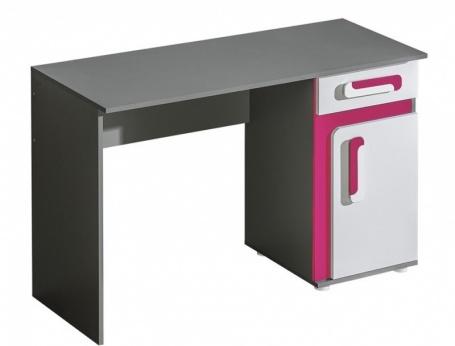 Pracovní stůl APETTITA 9 antracit/růžová