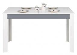 Jídelní stůl rozkládací Twin - bílá/šedá