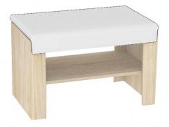Sedací lavička s výběrem sedáku REA Vesti 1 - dub bardolino
