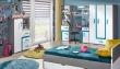 Tv stolek APETTITA 17 antracit/tyrkys