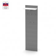 Věšákový panel, grafit / bílá, RIOMA TYP 19