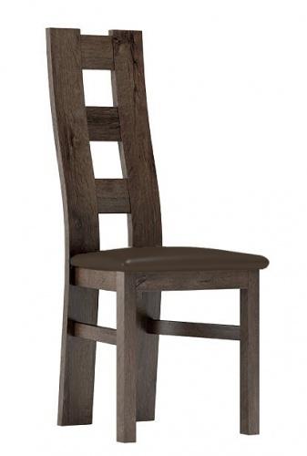 Čalouněná židle TADEÁŠ jasan tmavý/Victoria 36
