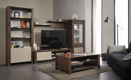 Obývací sestava Diego - ořech/béžová