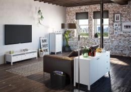 Obývací sestava London - bílá