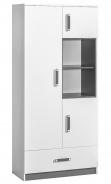 Kombinovaná skříň TRAFICO 3 bílá/popel