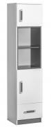 Kombinovaná skříň úzká TRAFICO 4 bílá/popel