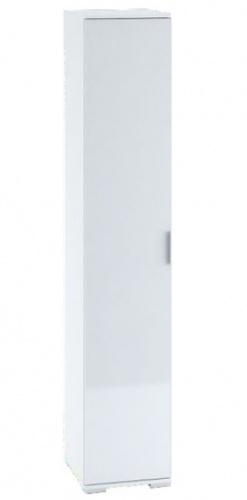 Šatní skříň 1-dveřová TERRA bílá/bílý lesk