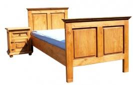 Masivní postel  90x200cm ACC 02 - výběr moření