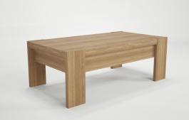 Konferenční stolek Kampa - dub/bílá