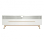 Televizní stolek Sissa - dub/bílá