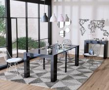 Jídelní stůl s rozkládáním Penny - černý