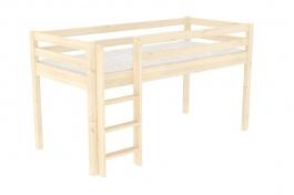Zvýšené jednolůžko - postel DOMINO D905, zábrana A - smrk