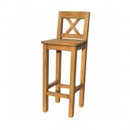 Barová židle masiv SIL 23 - výběr moření