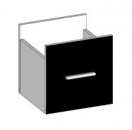 Zásuvka k regálu MODUS M-DRAWER černá