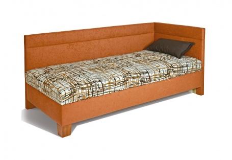 Čalouněná postel Erika - pravý roh