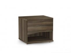 Noční stolek REA Wave 1 jednozásuvkový  - ořech rockpile