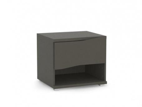 Noční stolek REA Wave 1 jednozásuvkový - graphite
