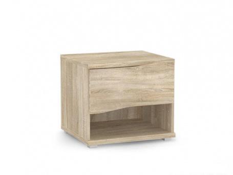 Noční stolek REA Wave 1 jednozásuvkový  - dub bardolino