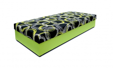 Čalouněná postel bez čela TARA - výběr potahů