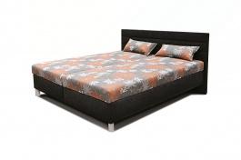 Čalouněná postel s roštem a matrací VANDA - výběr rozměrů a potahů