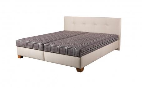 Čalouněná postel s roštem a matrací DARINA - výběr rozměrů a potahů