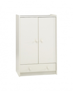 Šatní skříň Dany nízká - bílá