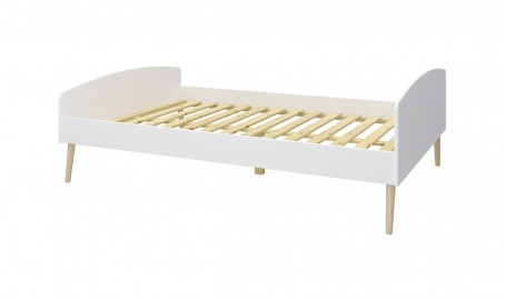 Studentská postel Soft 140x200cm - bílá