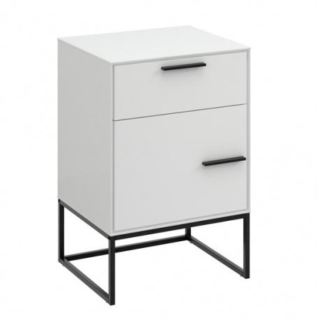 Noční stolek Lina kombinovaný - bílo/černý