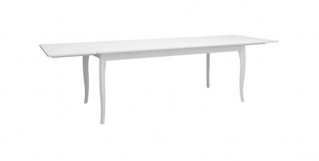 Jídelní stůl s přídavnými deskami Baroko - bílá