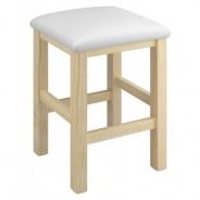 Stolička Clive - buk/bílá