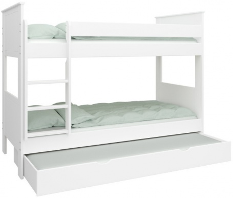 Patrová postel Daisy se zásuvkou - bílá