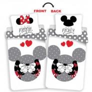 Povlečení Mickey a Minnie - love grey