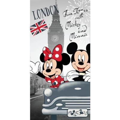 Osuška Mickey a Minnie v Londýně 70x140cm