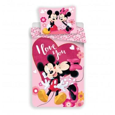Povlečení Mickey a Minnie in love micro