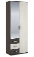 Šatní skříň 2-dveřová ROCHEL 58 cm belfort/wenge