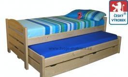 Dětská postel s přistýlkou Jesper P - buk