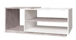 Konferenční stolek Vulcano - dub / bílá