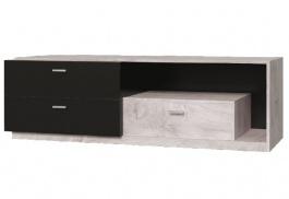 Televizní stolek Vulcano - dub / černá