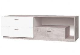 Televizní stolek Vulcano - dub / bílá