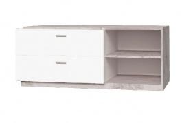 TV stolek Vulcano - dub / bílá