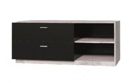TV stolek Vulcano - dub / černá