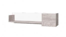 Závěsná polička Vulcano II - dub / bílá