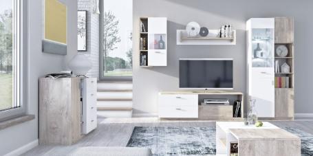 Obývací pokoj Vulcano C - dub/bílá
